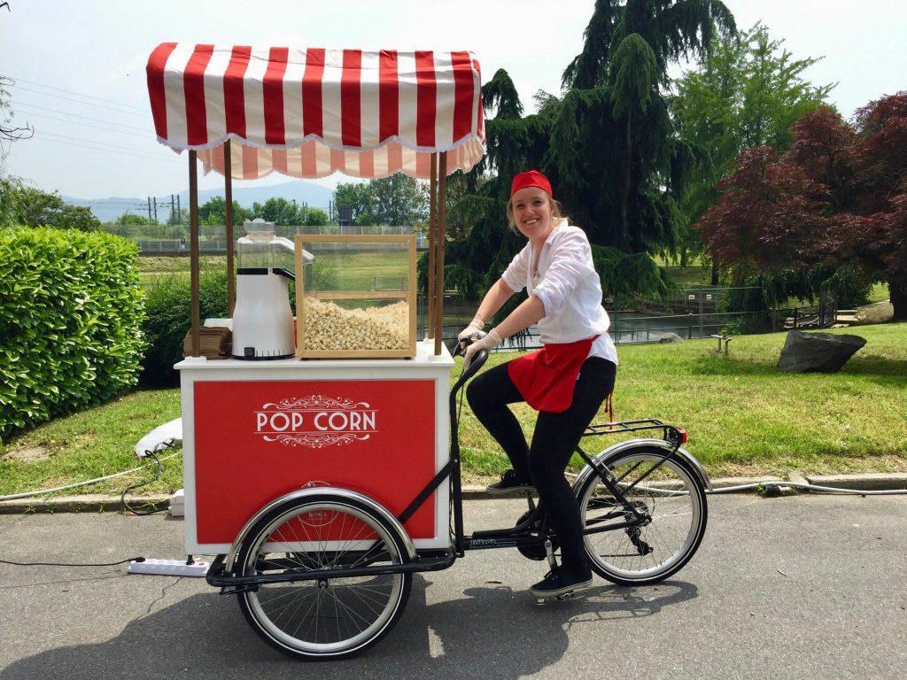Carretto popcorn per feste ed eventi a Roma