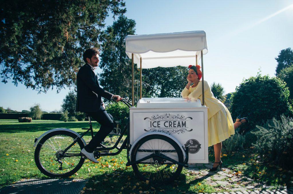 Carretto gelati wedding Roma