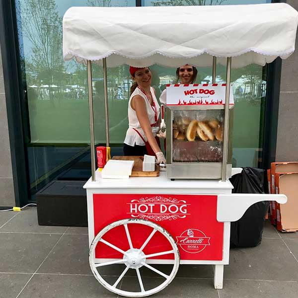 Noleggio carretto hot dog a roma